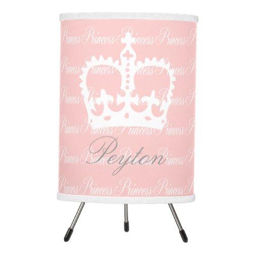 Pink-n-White Princess Tripod Lamp
