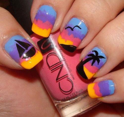 18 Summer Gel Nail Art Designs & Ideas 2019 | Fabulous ...