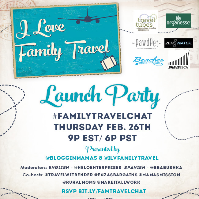 I Love Family Travel Launch Party #FamilyTravelChat 2-26-15 at 9p EST