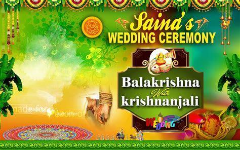 wedding banner design free download   naveengfx