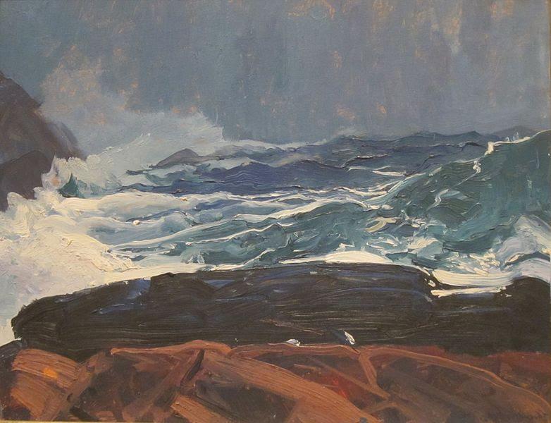 Archivo:Lobster Cove, Monhegan, Maine by George Bellows, San Diego Museum of Art.JPG