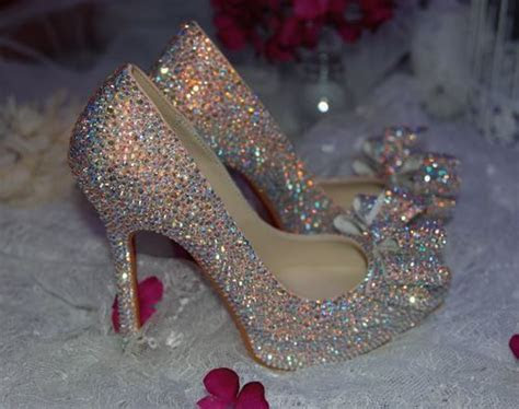 crystal shoes ideas  pinterest