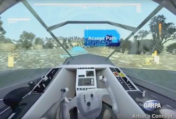 Voici le pare-brise du futur sur lequel Honeywell travaille pour le compte de la DARPA (Credit: DARPA)
