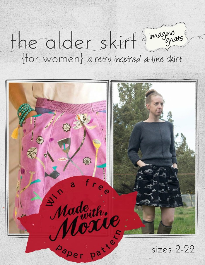 Win a free paper pattern of the Alder Skirt from Made with Moxie