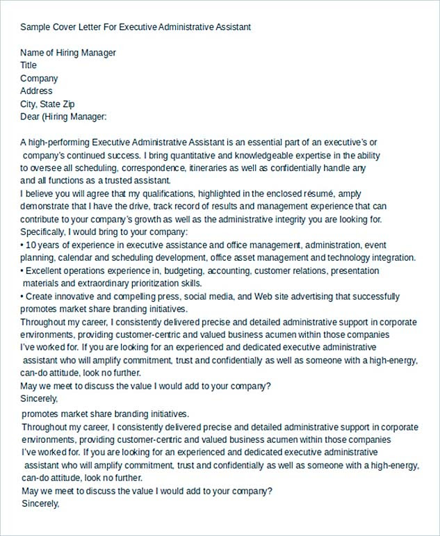 Cover Letter For Executive Assistant from lh4.googleusercontent.com