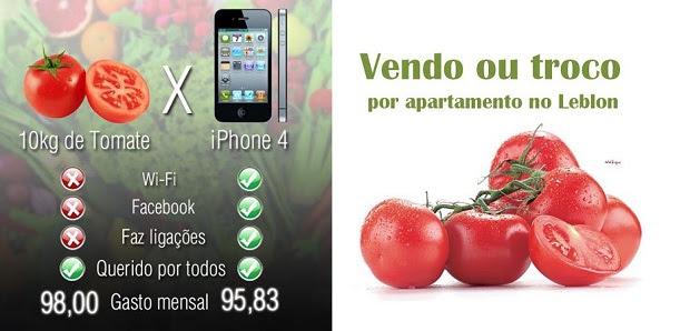 Tomate virou meme após preço subir no mercado (Foto: Reprodução/Facebook)