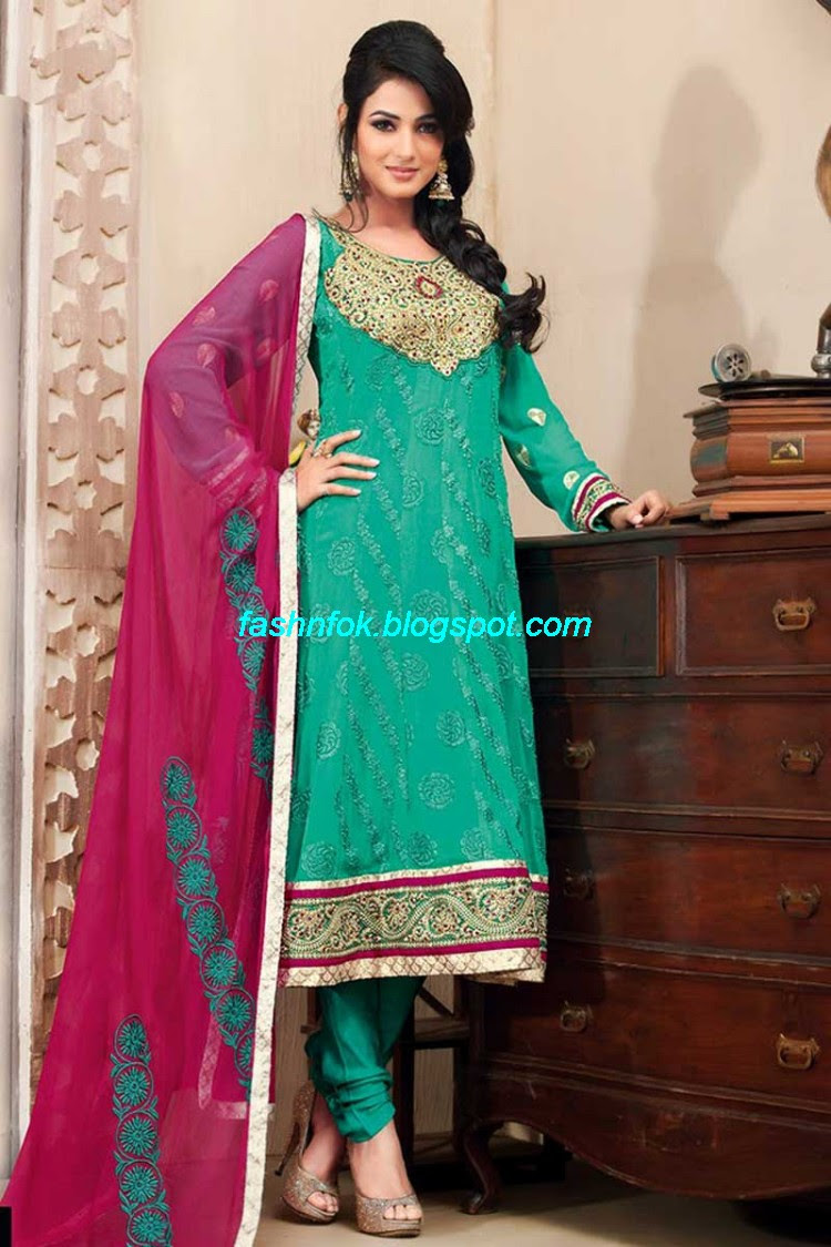 Mehndi Designs: Indian Latest Anarkali Wedding Frock Suits ...