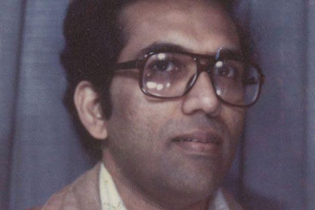 Aravindan Balakrishnan in a photo booth in the 1970s