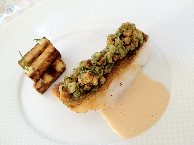 Restaurant Gabriel, Bordeaux - Halibut and Polenta
