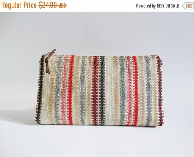 Clutch For Girl Red Striped Bridesmaid Gift Bag Gift For Sister
