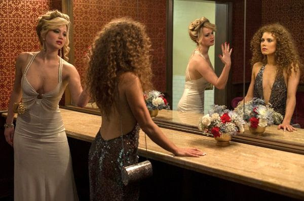 Jennifer Lawrence and Amy Adams square off in AMERICAN HUSTLE.
