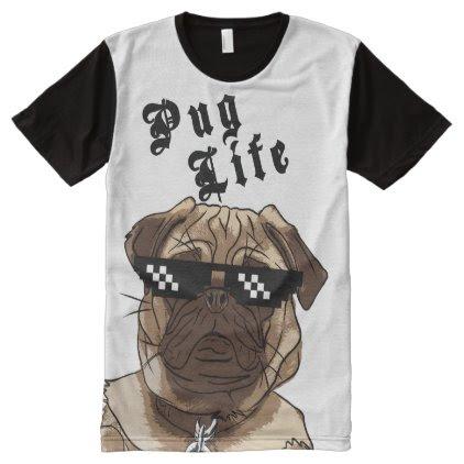 Pug Life - All Over Print / T-shirt