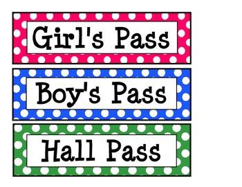 Printable Polka Dot Hall Passes   Dots, Polka dots and Hall pass