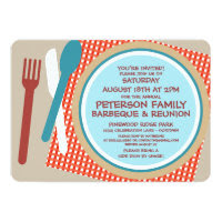 Family Reunion Picnic Barbeque Invitation