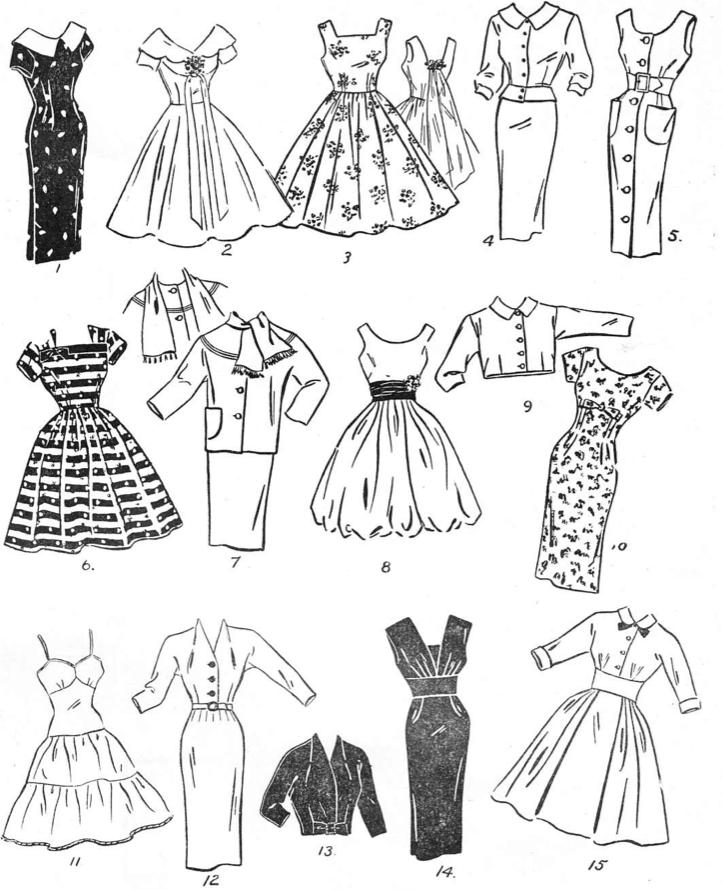 50s dress styles mid-century
