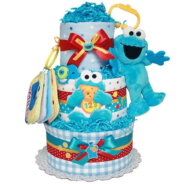Elmo diaper cake