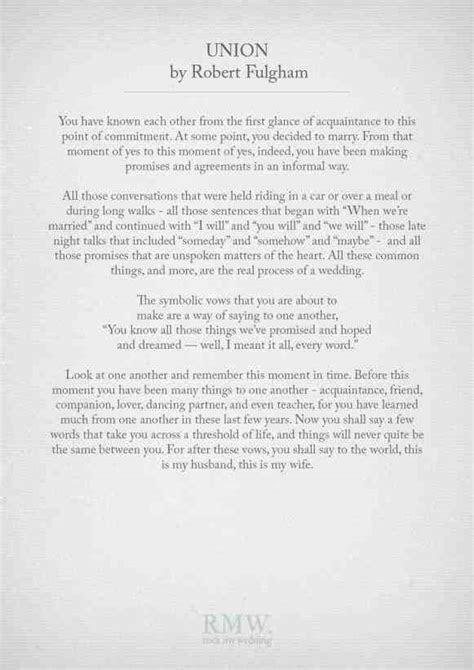 Short Wedding Ceremony Readings   Weddings234