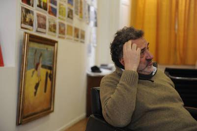 El filósofo y asesor Alejandro Rozitchner, en su despacho de la Casa Rosada. Fotos Alfredo Martinez