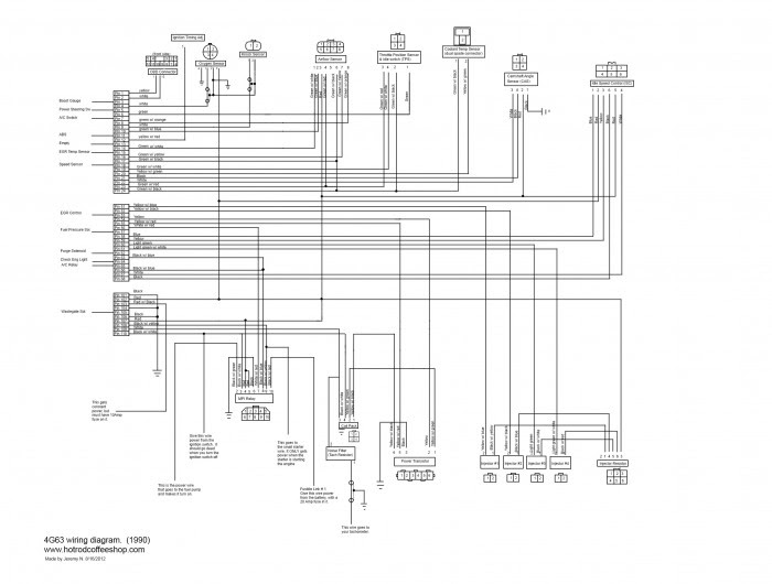 4g63 Wiring Diagrams Schematics For Engine Swaps Hotrodcoffeeshop