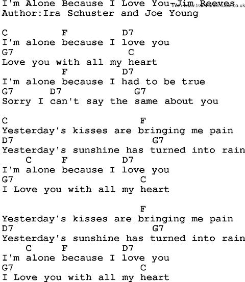 Jim Reeves Song I Love You Because Lyrics