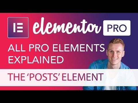 The Posts Element Tutorial in Elementor