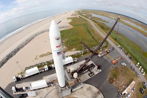 Wide-angle view of Minotaur V at NASA Wallops by NASA Goddard Photo and Video