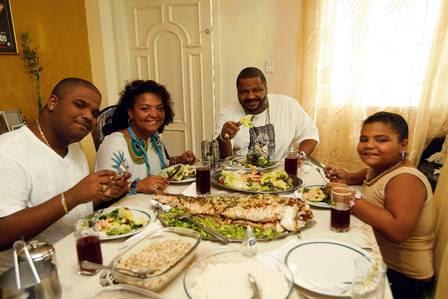 O quarteto agora faz refeições mais leves