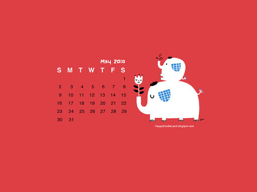 Free May Desktop Calendar Wallpaper 1600x1200
