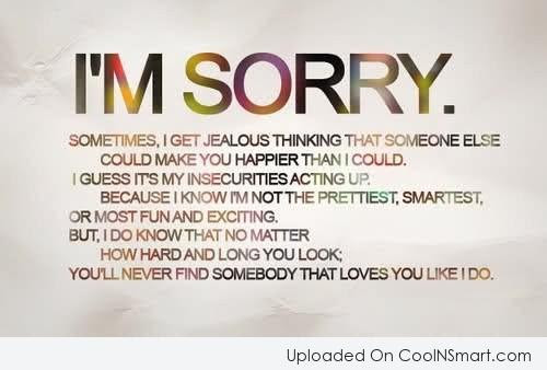 Quotes About Sorry In Love 81 Quotes