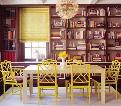 Dining room with yellow chairs modern diy art designs for Modern house 6 part 2