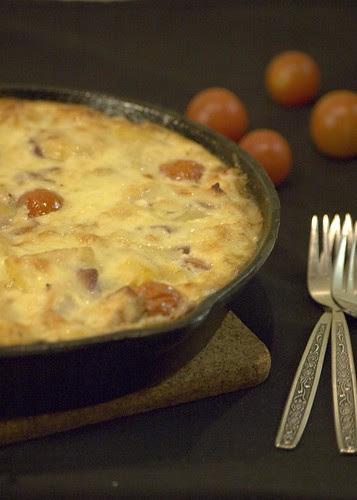kartuliomlett tomatite ja kanalihaga