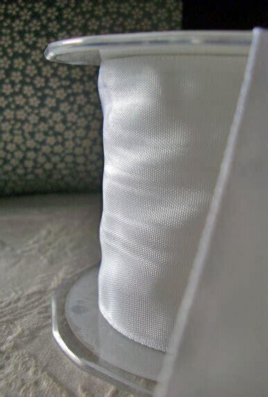 """3"""" White Moire Ribbon 27 feet"""