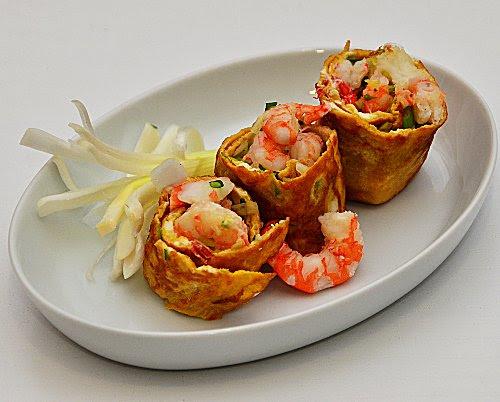 omelette thai ai gamberetti