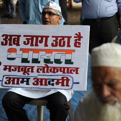 While campaigning for the recent assembly, which AAP won with an overwhelming majority, the Lokpal bill was put on a back burner. File Photo