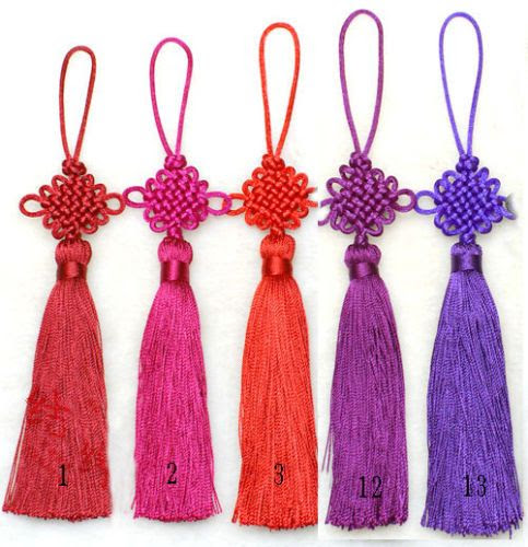 10 PC Fashion Chinese Knot Tassel Decor Pendant Ornaments for Home Car Bag LOT