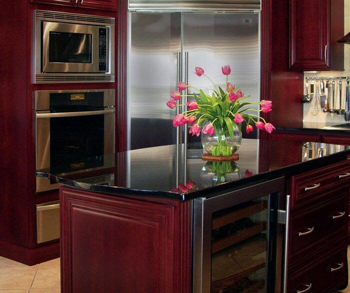 Burgundy Cabinets | Kitchens ~ Commercial Stoves/Ovens ...