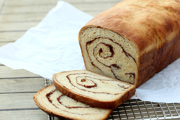 100% Whole Wheat Cinnamon Swirl Bread