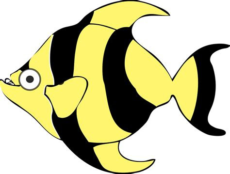 hitam kartun ikan gambar vektor gratis  pixabay