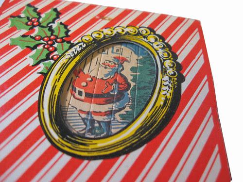 christmas matchbooks closeup