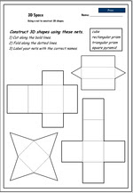 Constructing 3D Objects from their nets - cube, Mathematics skills ...