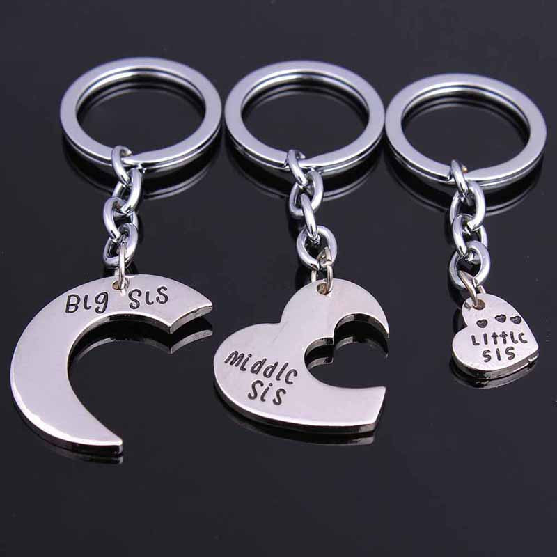 Lalang 2pcs Not Sisters By Blood But Sisters By Heart Key Chain Best