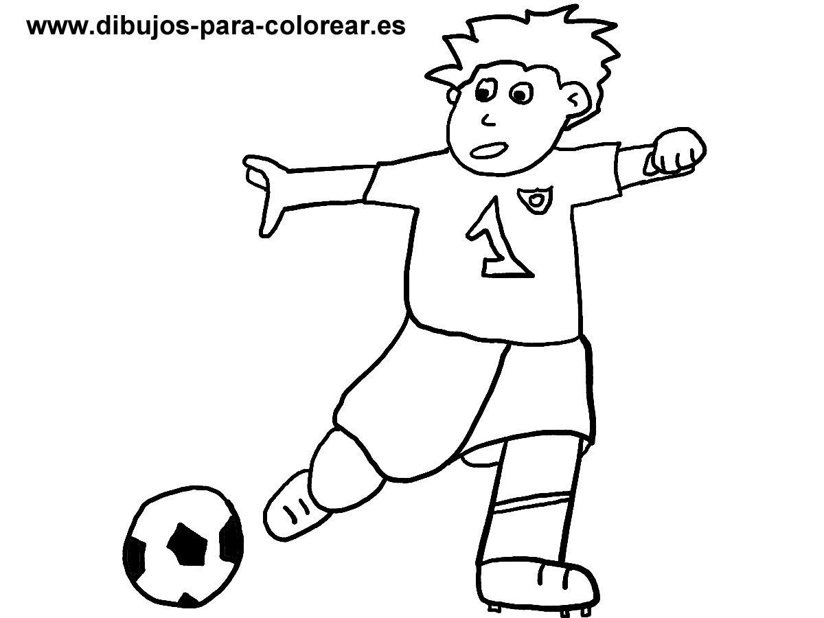 El Jugador De Futbol Dibujos Para Colorear