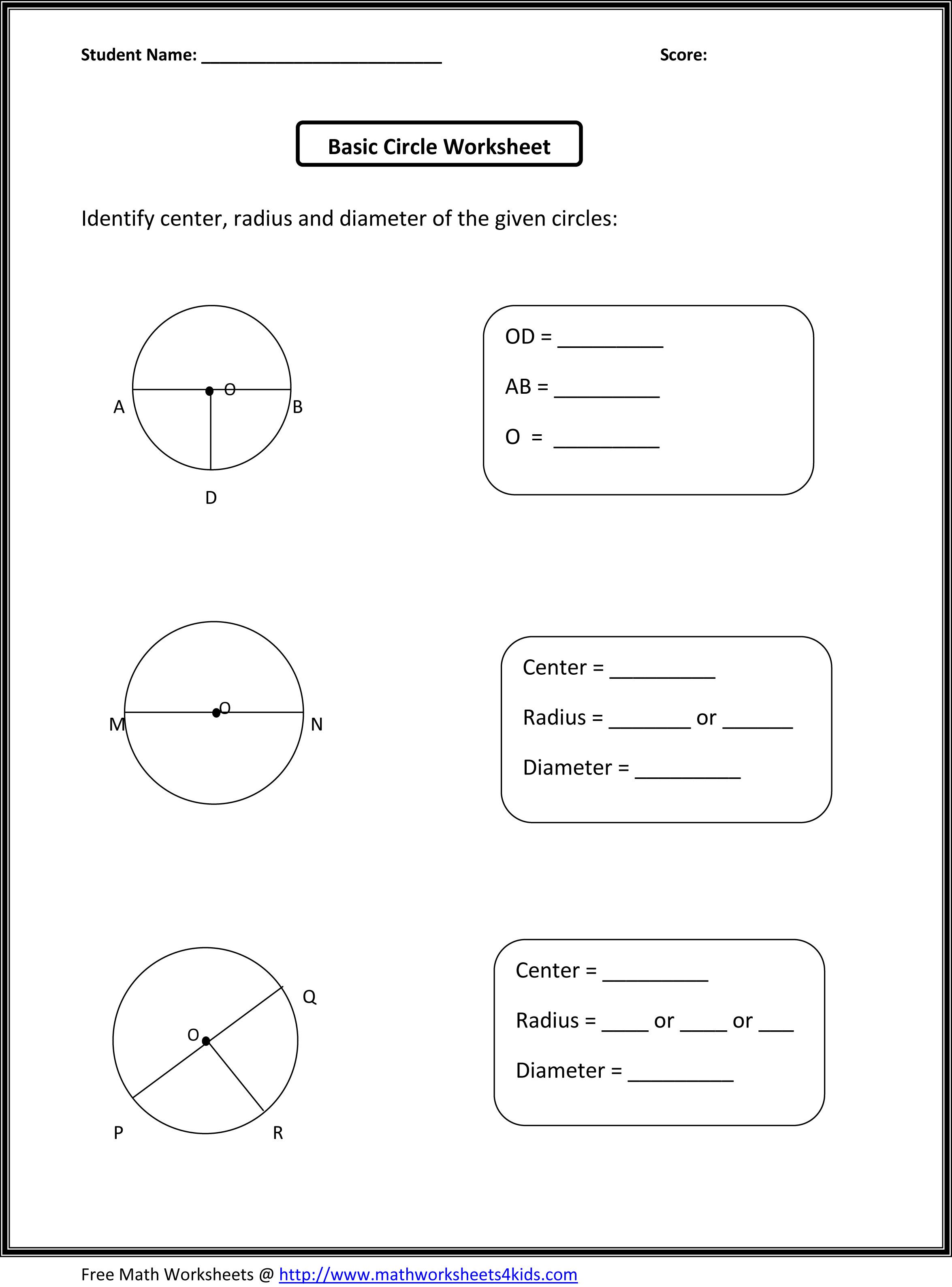 circle worksheets
