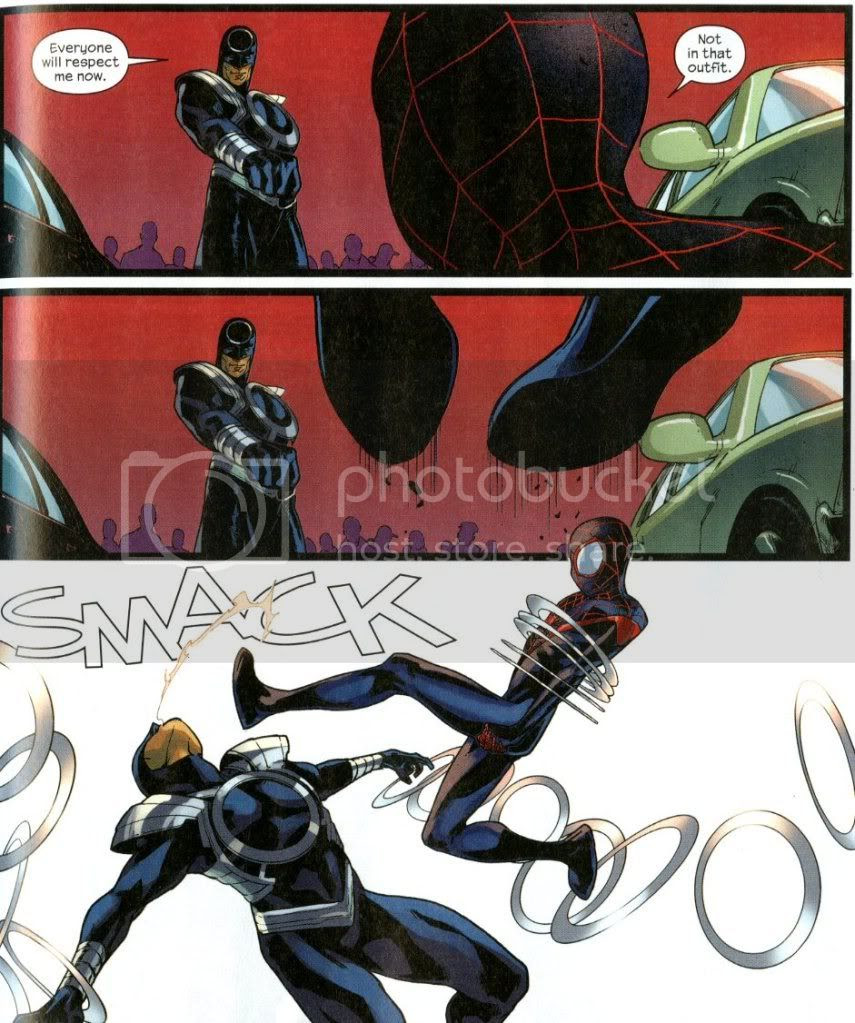 from Ultimate Comics All-New Spider-Man #8, by Bendis and PIchelli