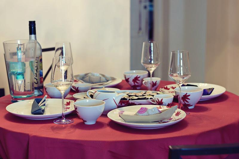 mesa preparada