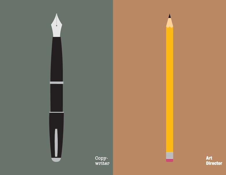 Copywriter Vs Art Director: Illustration - 1