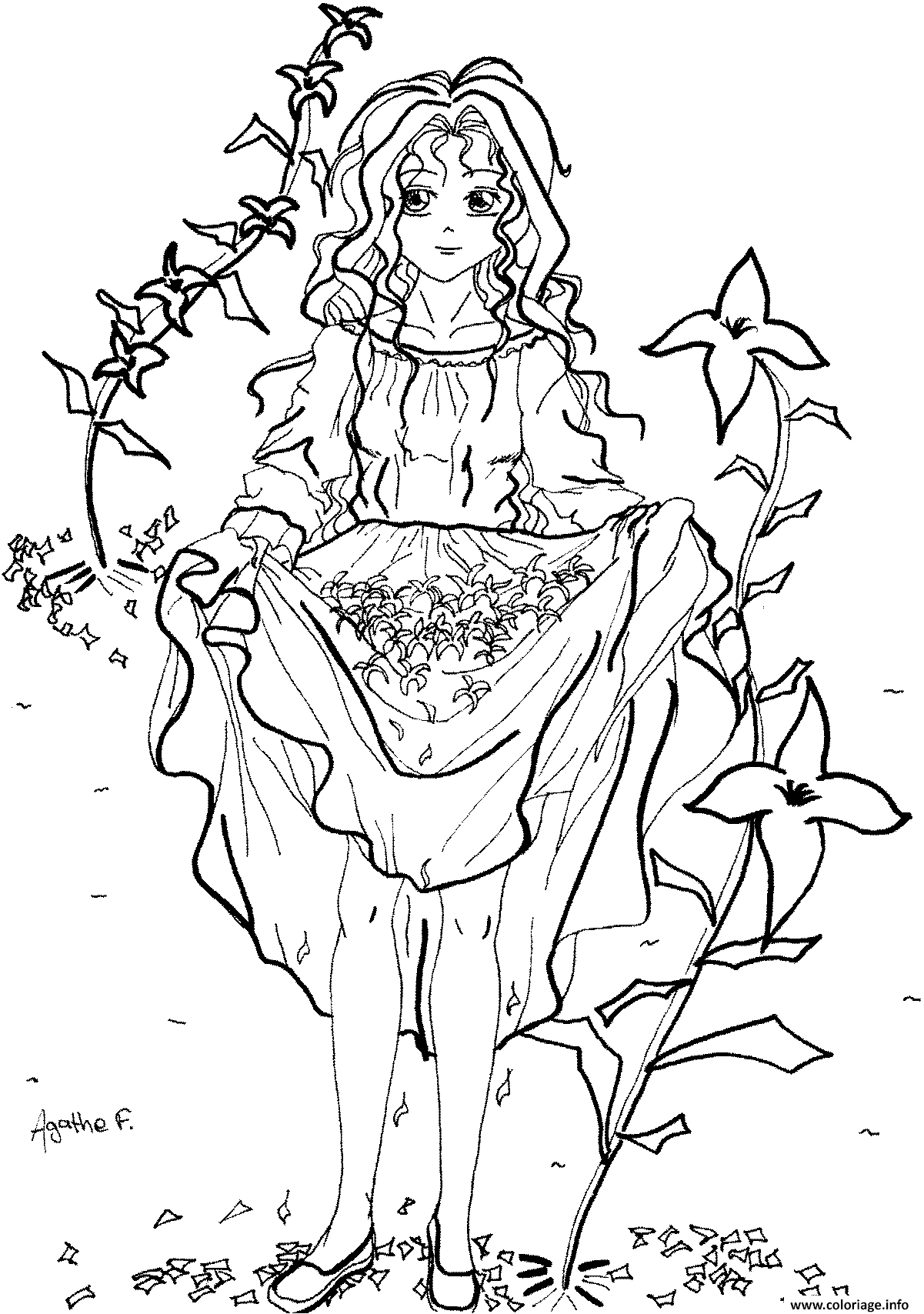 cheap coloriage fille manga dessin imprimer with coloriage fille