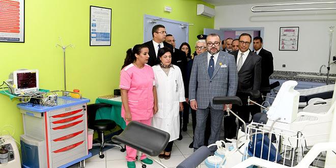 Le Roi Mohammed VI inaugure un centre de santé à Bouknadel