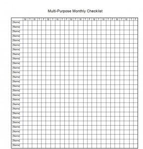 Monthly Teaching Checklist 289x300