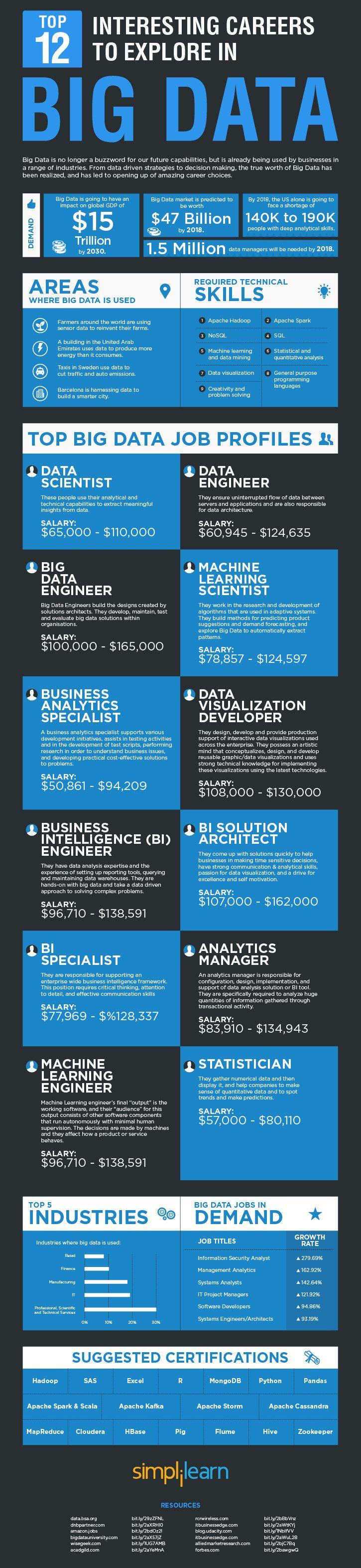 12 Interesting Big Data Careers To Explore